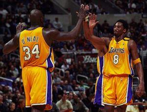Shaq and Kobe 2001