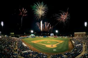 Baseball and fireworks