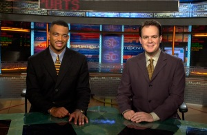 Stuart Scott and Rich Eisen on the SportsCenter set