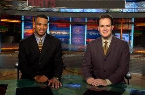 Stuart Scott and Rich Eisen on the SportsCenter set