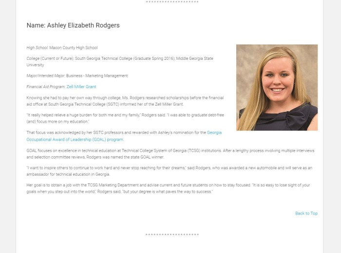 GAfutures - Award Recipient: Ashley Elizabeth Rodgers